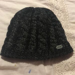 Black and grey winter hat